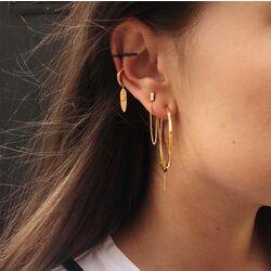 Julie Sandlau Lucia zilveren oorstekers ketting