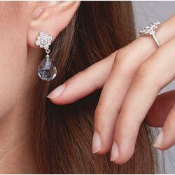 Julie Sandlau Peony oorstekers grijs