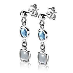 Zinzi blauw grijze oorbellen ZIO1726