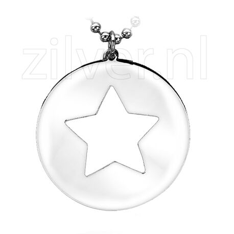 Zinzi Zilveren Hanger Ster Zih951