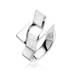 Mart Visser zilveren gourmet ring breed MVR11