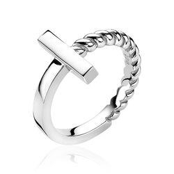 Zinzi zilveren ring staafje zir1446