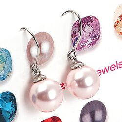 Zilveren oorbellen roze parel Zinzi ZIO266r