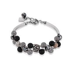 Coeur de Lion armband zwart grijs 4895-30-1523