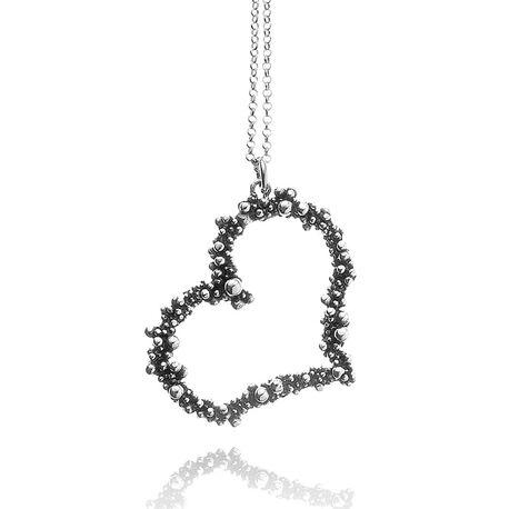 Giovanni Raspini Perlage hart hanger met collier