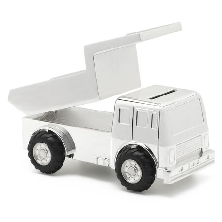 Spaarpot kiepwagen verzilverd 8126261