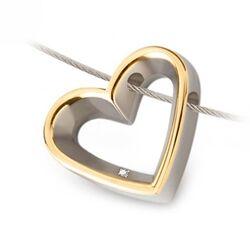 Bicolor harthanger diamantje Titanuim Boccia 0701-02