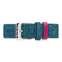 Zinzi denim blauwe Retro horlogeband