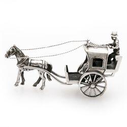 Miniatuur zilveren koets Koninklijke Begeer