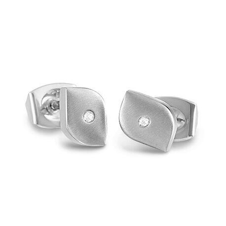 Boccia titanium oorstekers tulp met diamant 05008 02