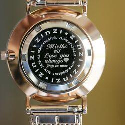 Zinzi horloge graveervoorbeeld