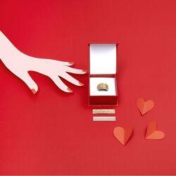 Les Georgettes Valentijns ringset met 3 inlay's
