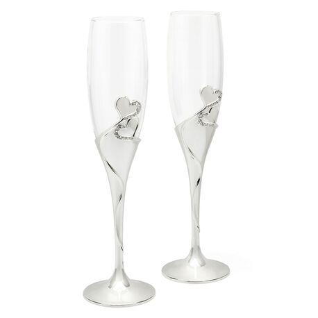 Champagneglazen hearts Zilverstad 7526261