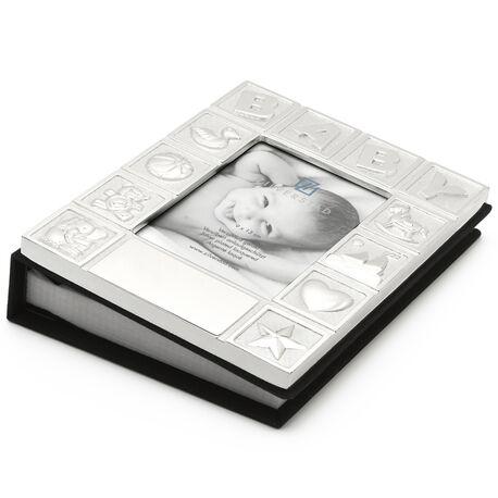 Baby fotoalbum verzilverd Zilverstad 8108261