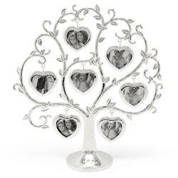 Verzilverde stamboom met fotolijstjes hart Zilverstad 8131261