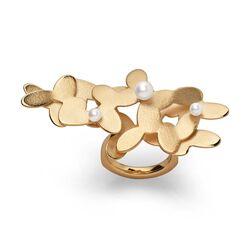 Bastian Inverun verguld zilveren ring Jasmine