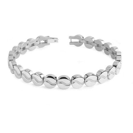 Boccia Titanium armband ronde schakels 03023-01