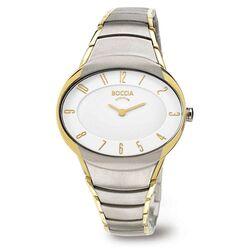 Boccia bicolor titanium horloge ovaal 3165-11