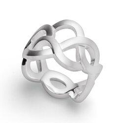 Bastian Inverun zilveren ring Floral