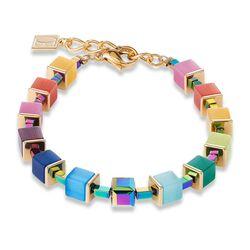 Coeur de Lion armband Rainbow gold