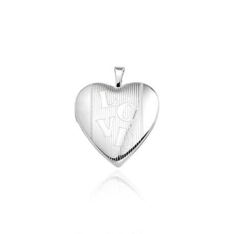 Medaillon hart LOVE zilver