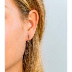 Zinzi rosé oorstekers met gourmet kettinkje ZIO1773R