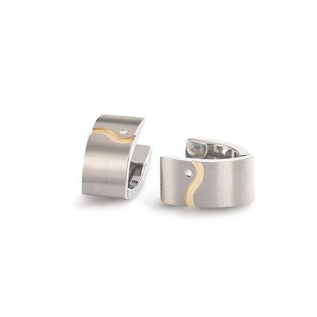 Boccia bicolor oorringen titanium 05031-04