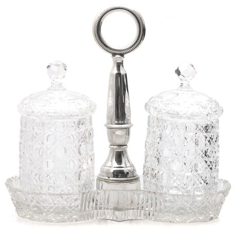 Russisch slijpsel compotestel zilver handvat