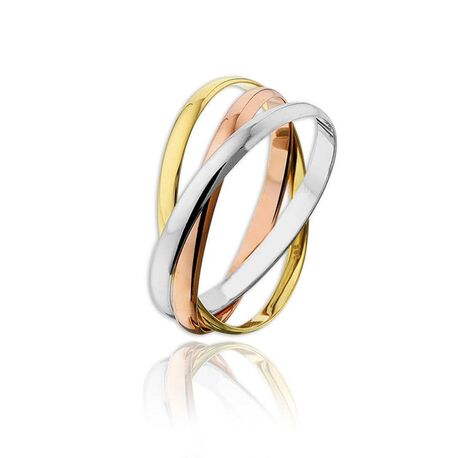 Tricolor gouden ring