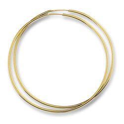 Gouden oorringen ronde buis 1,8 mm dikte