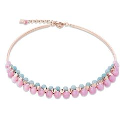 Coeur de Lion collier multirow roze mintgroen