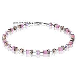 Coeur de Lion collier GeoCUBE roze