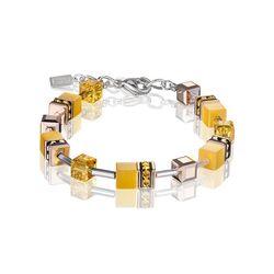 Coeur de Lion armband Geocube geel