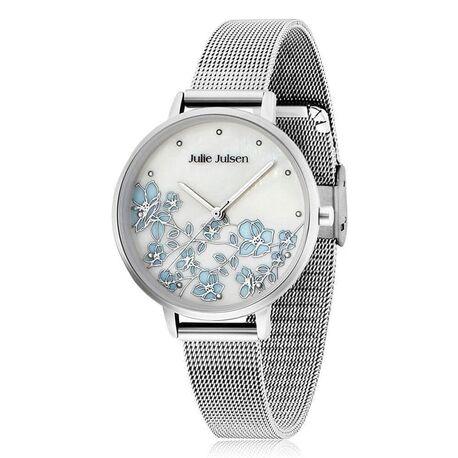 Julie Julsen horloge kersen bloesem blauw