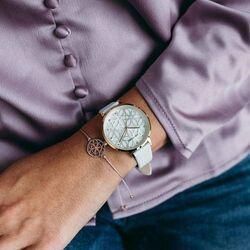 Julie Julsen Levensboom horloge wit verguld