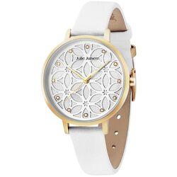 Julie Julsen Levensbloem horloge wit verguld