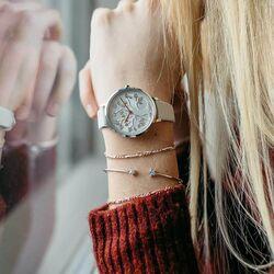 Julie Julsen horloge levensboom wit rosé