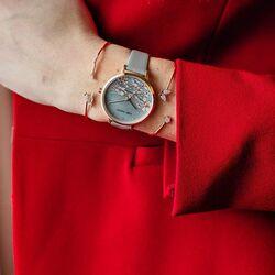 Julie Julsen horloge grijs kersen bloesem
