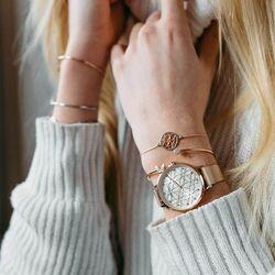 Julie Julsen rosé horloge Levensbloemen
