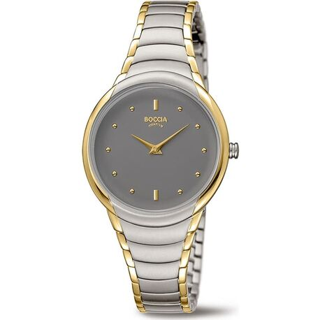 Boccia Titanium horloge grijs bicolor 3276-13