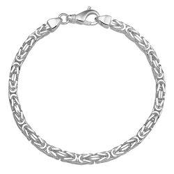 Zilveren armband konings schakel