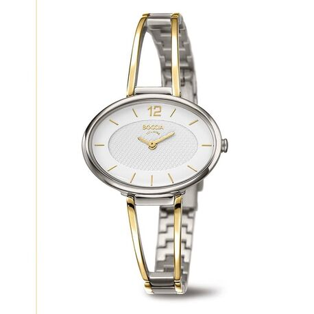 Boccia bicolor titanium horloge ovaal 3261-07