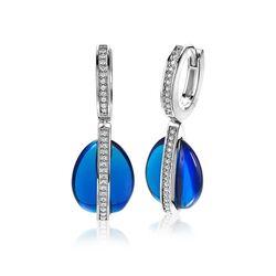 Zinzi oorhangers blauw wit ZIO1726