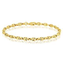 Gouden ankerschakel armband 19,5 cm