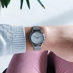 Esprit stalen bloom horloge wit