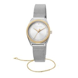 Esprit bicolor Slice Dot horloge