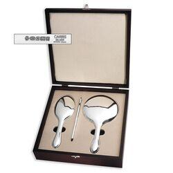 Zilveren kapset zilveren handspiegel, zilveren haarborstel, zilveren kam Zilver.nl