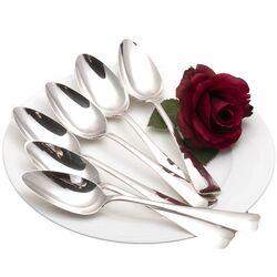 6 zilveren dessertlepels haags lofje