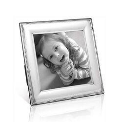 Zilveren fotolijst vierkant 13x13 met parelrand van Carrs