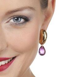 Heide Heinzendorff verguld zilveren creolen Hannah